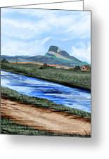 Heart Mountain And The Canal Greeting Card