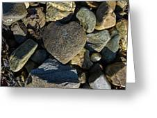 Heart Shaped Stone Loch Fyne  Greeting Card