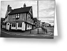heath mill lane and the old crown pub Birmingham UK Greeting Card