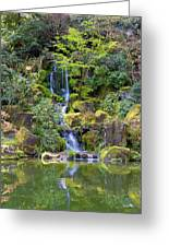Heavenly Falls In Spring Greeting Card