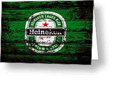 Heineken Beer Wood Sign 1e Greeting Card