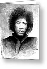 Hendrix Portrait Greeting Card