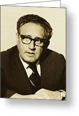 Henry Kissinger 1976 Greeting Card