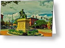 Henry Wadsworth Longfellow Monument - Portland, Maine Greeting Card