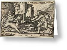 Hercules Capturing Cerberus Greeting Card