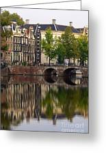 Herengracht Canal. Amsterdam. Netherlands. Europe Greeting Card