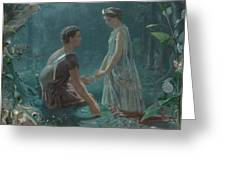 Hermia And Lysander Greeting Card