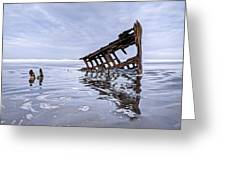 The Peter Iredale Wreck, Cannon Beach, Oregon Greeting Card