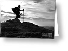 Hiker Silhouette Greeting Card