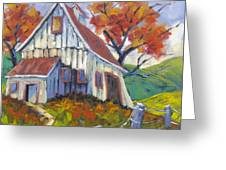 Hillsidebarn Greeting Card