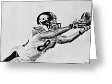 Hines Ward Diving Catch  Greeting Card