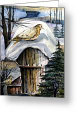 His Eye Is On The Sparrow Greeting Card by Mindy Newman