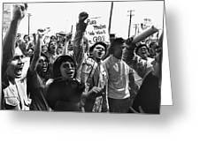 Hispanic Anti-viet Nam War Rally Tucson Arizona 1971 Greeting Card