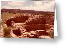 Historic Indian Ruins  Greeting Card