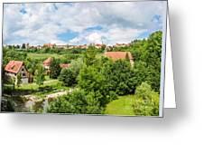 Historic Town Of Rothenburg Ob Der Tauber  Greeting Card