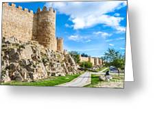 Historic Walls Of Avila Greeting Card