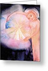 Holding On To The Birth Of Color Greeting Card