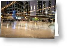 Holiday Scenes In Uptown Charlotte North Carolina Greeting Card