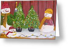 Holiday Snowmen Greeting Card