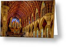 Holy Name Organ Loft Greeting Card