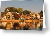Homes On Kennebunkport Harbor Greeting Card