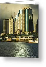 Honolulu Harbor Greeting Card