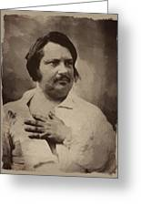 Honore De Balzac Greeting Card