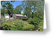 Hopewell Village And Stream Greeting Card