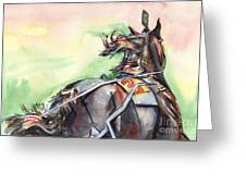 Horse Art In Watercolor Greeting Card