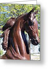 Horse Head In Bronze Greeting Card