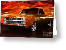 Hot Rod Chevrolet Scotsdale 1978 Greeting Card