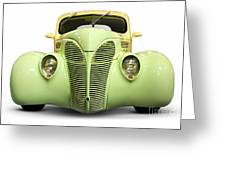 Hot Rod Ford Coupe 1938 Greeting Card