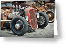 Hot Rods Greeting Card