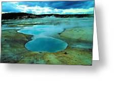 Hot Springs In Yellowstone. Greeting Card