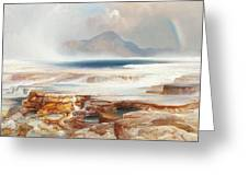 Hot Springs Of The Yellowstone Greeting Card