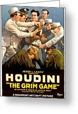 Houdini In The Grim Game 1919 Greeting Card