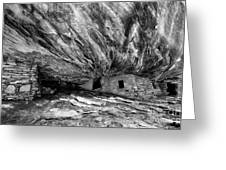 House On Fire Ruin Utah Monochrome 2 Greeting Card