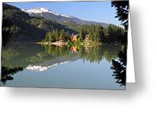 House On Green Lake Whistler B.c Canada Greeting Card