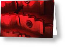 Hues Of Massey Hall - Red Greeting Card