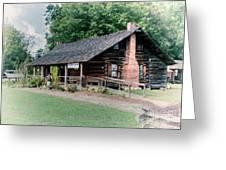 Huffman Log Cabin Greeting Card