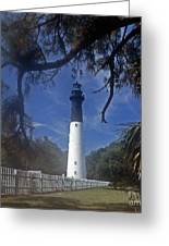 Lh 8-3 Hunting Island Lighthouse Sc Greeting Card