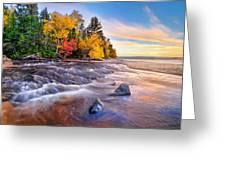 Hurricane River Sunset Greeting Card