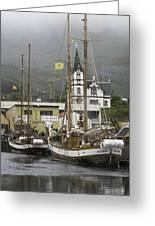 Husavik Harbor Iceland 3660 Greeting Card