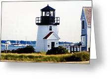 Hyannis Inner Harbor Light Greeting Card