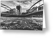 Ice Chunks On The Elbe - Hamburg Greeting Card