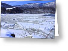 Ice Flow Greeting Card