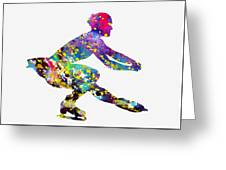 Ice Skater-colorful Greeting Card