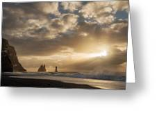 Icelandic Seascape Greeting Card