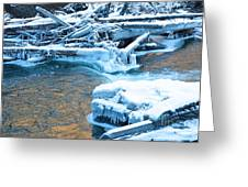Icy Blue River Greeting Card