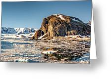 Icy Water Greeting Card